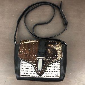 Zara Basics Cow Hide Small Crossbody Bag